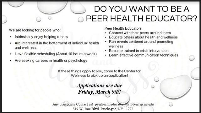Peer Health Educator